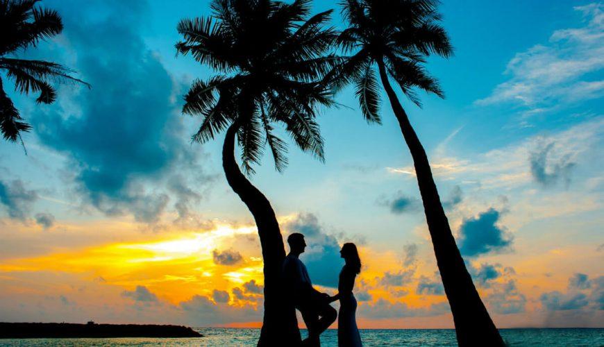 Beach couple kerala