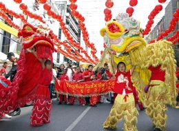 the lion dance china