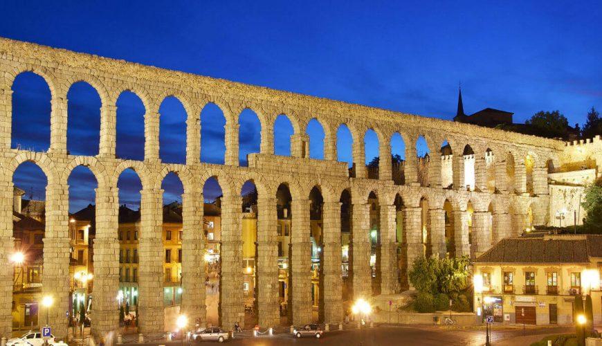Aqueduct Segovia Night