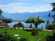 Garden Lake Geneva Switzerland