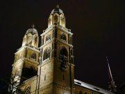 Zurich Night Dark Church Tower