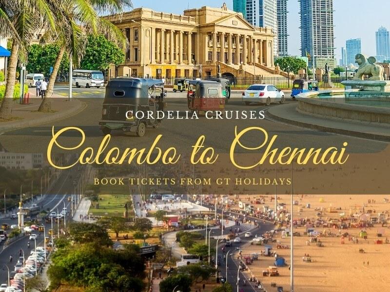 Cordelia Cruises Colombo to Chennai